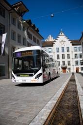 Die Stadt Aarau fährt Hybrid