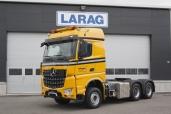 Bei schweren Aufgaben setzt die Allegro Transport AG auf den neuen Arocs 3363 LS 6x4