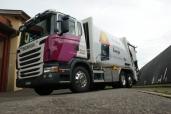 Mit neuem Euro-6-Scania auf Sammeltour