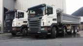 Gleich zwei neue Scania Euro 6 für Paulin Parpan AG in Valbella/GR