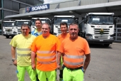 21 Scania Bau-Trucks für die Mittelland Transport AG