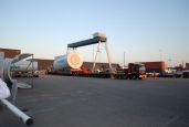 Konzentrierte Last – 275 Tonnen Nacelle sicher auf SCHEUERLE InterCombi transportiert