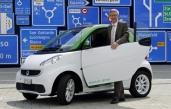 Vergleichsfahrten mit Elektro-, Hybrid- und Erdgasautos im Verkehrshaus
