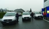 Konecranes mit fünf neuen Vito Servicefahrzeugen