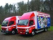 Zwei Canter von Fuso im Entsorgungsfuhrpark der Lienhart Transporte AG