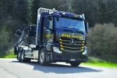 Riebli Forst AG mit neuem Actros 2551 L 6x2 Euro 6