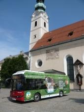 Der erste Solaris-Elektrobus fährt in Klagenfurt auf Linie