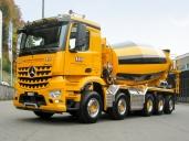 BBR Belag und Beton AG, Rothenburg ist vom Arocs 4451 LB 10x4/6 NLA begeistert