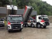 Betra SA entsorgt mit zwei Volvo FMX 500 8x4