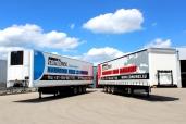 Combinex setzt auf Planensattelauflieger und Kühlkofferfahrzeuge von Kögel