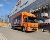 Neu für die HUG Baustoffe AG im Einsatz – der Mercedes-Benz Atego 1327 L 4x2