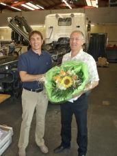Willi Wirth feiert 35 Jahre Betriebszugehörigkeit bei Notterkran