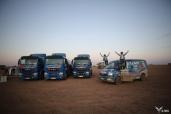 MAN Team mit TGE 4x4 bei der 29. Rallye Aïcha des Gazelles auf dem Podium