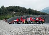 Drei imposante Arocs für die Besomi Trasporti SA