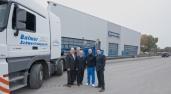 Windkraft: Balmer fährt als Erster die neue Vierfach-Tele-Sattelpritsche Super-Hub von Goldhofer