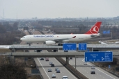 Frachtflug der Turkish Airlines von Leipzig/Halle nach Istanbul
