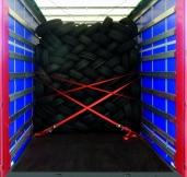 Reifen sicher und effizient transportieren Krone bietet gleich zwei Ladungssicherungssysteme
