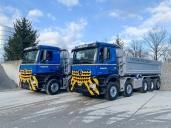Zwei Mercedes-Benz Arocs 4451 LK/NLA 10x4/6 für die Hubschmid Logistik AG